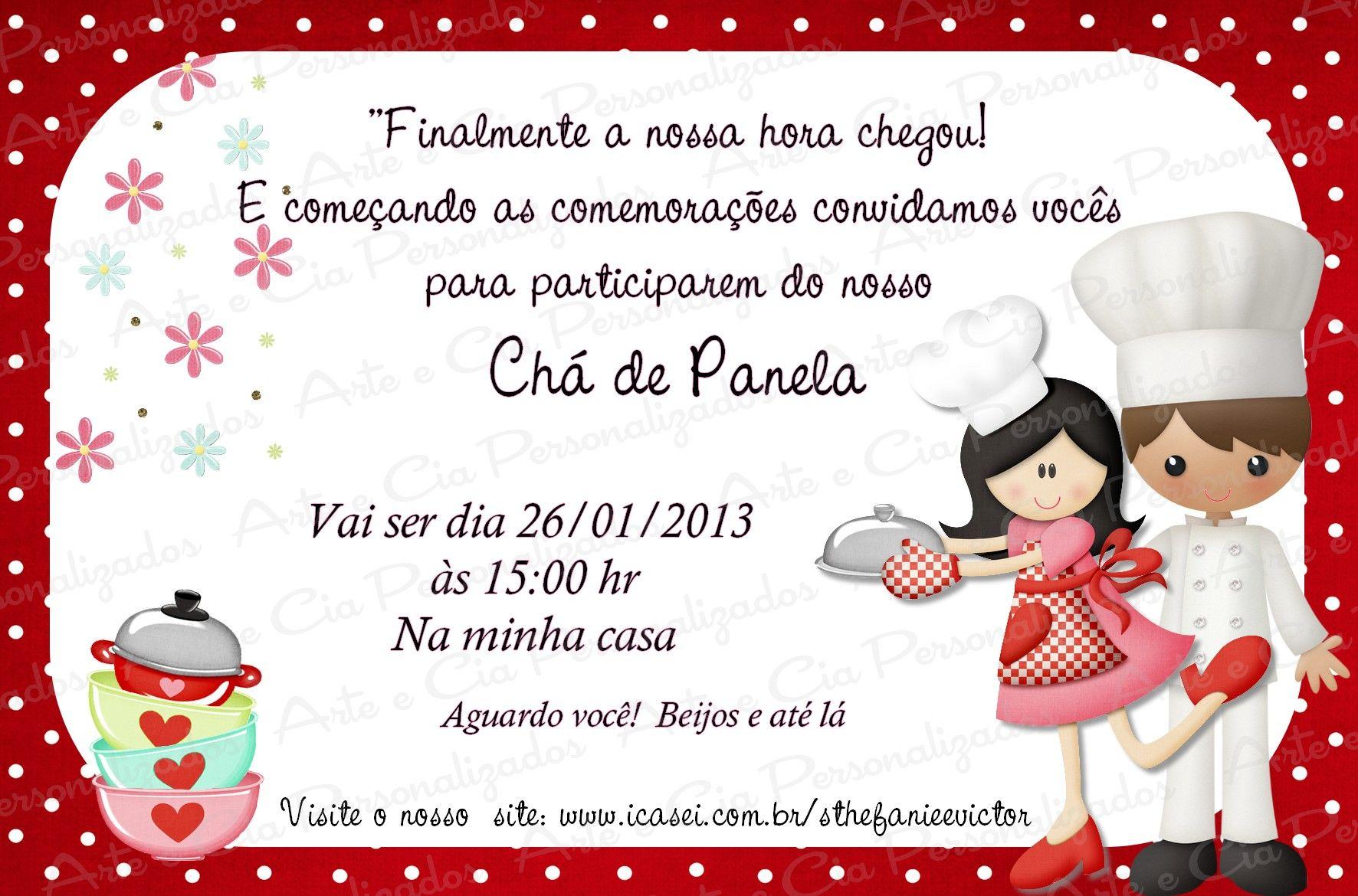 convite chá de panela - Pesquisa Google | chá | Pinterest