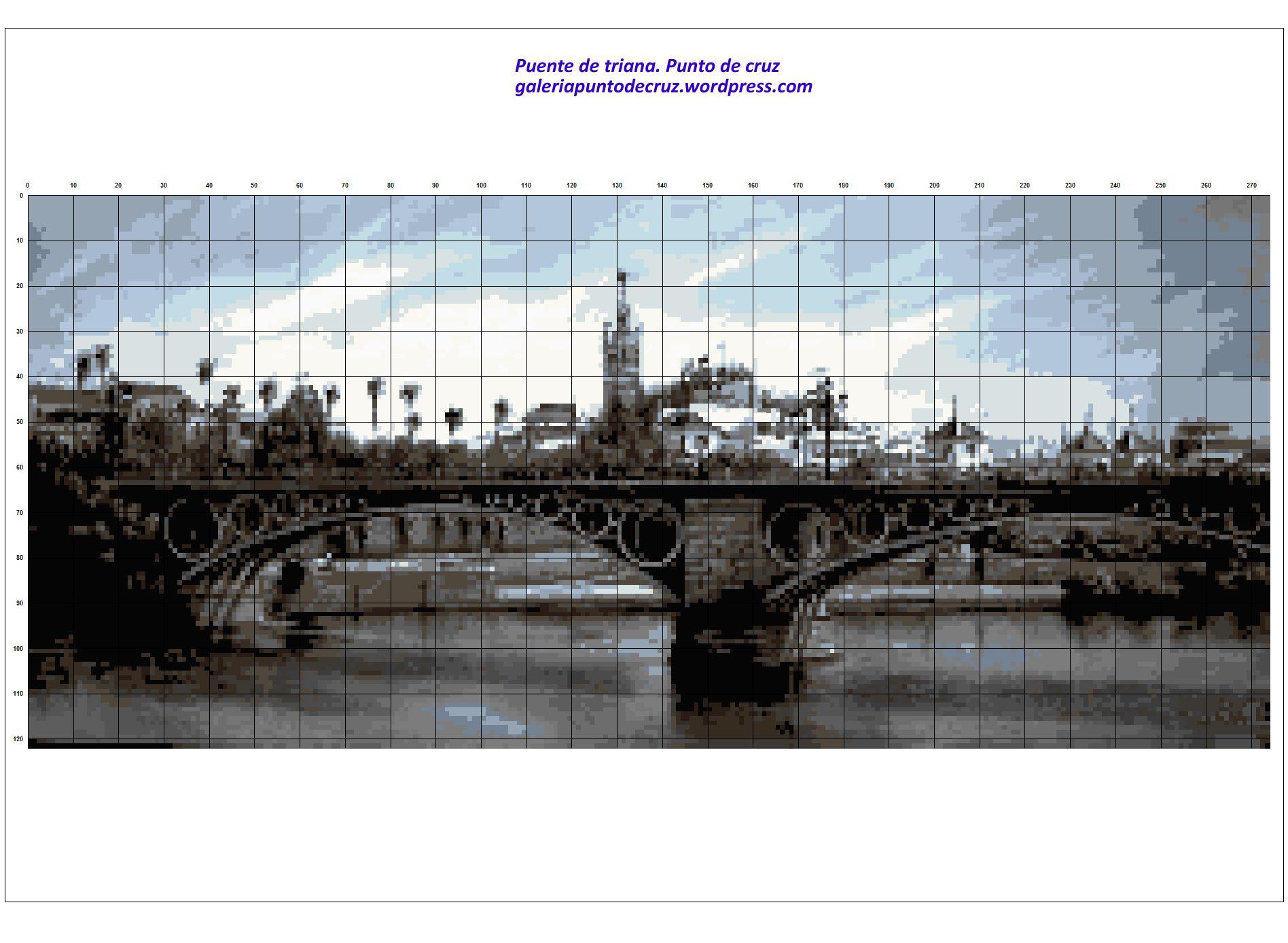 Puente de triana a punto de cruz (2)   Pinterest   Puentes, Punto de ...