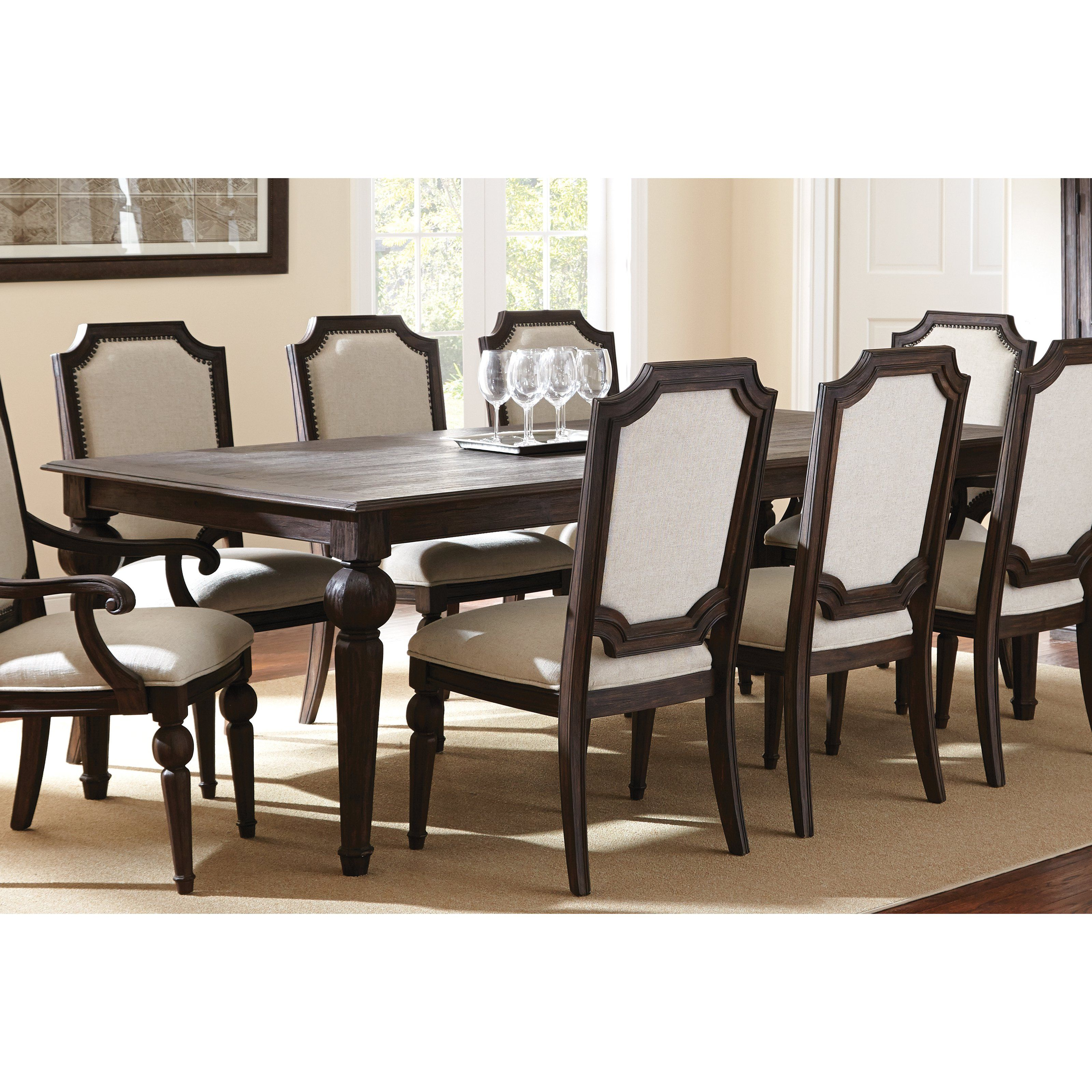 Steve Silver Cayden Dining Table  Black Walnut  From Hayneedle New Steve Silver Dining Room Set Review