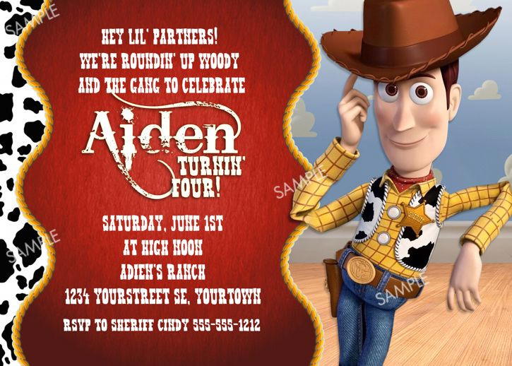 Free Toy Story Birthday Invitations Ideas Download this invitation