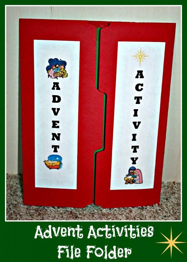 advent activities file folder advent activities advent. Black Bedroom Furniture Sets. Home Design Ideas