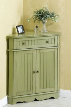 corner table storage furniture Decorative Corner Storage Cabinet ...