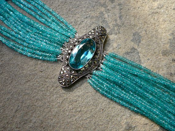SOLD Vintage Brooch Bracelet Art Deco Bracelet Art by TeeceTorre