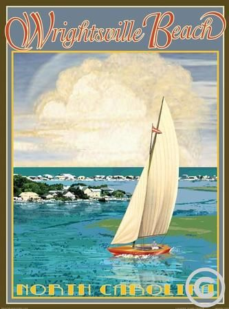 Beach Town Posters Retro Art Deco And Vintage By Aurelio Grisanty