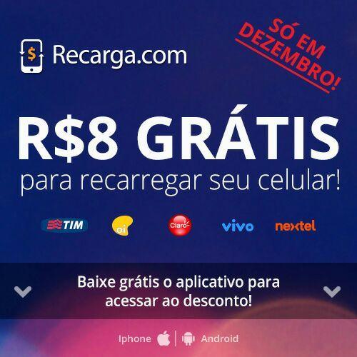 Acabei de recarregar meu celular com o app de Recarga. Baixe aqui: http://recarga.com/s/3418061/w/4