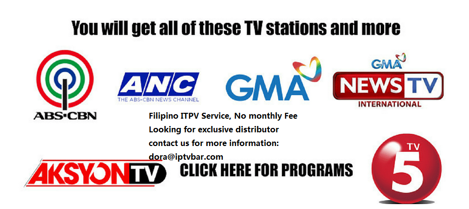 Streaming IPTV filipino HD Channels - ABS-CBN, GMA 7, TV 5