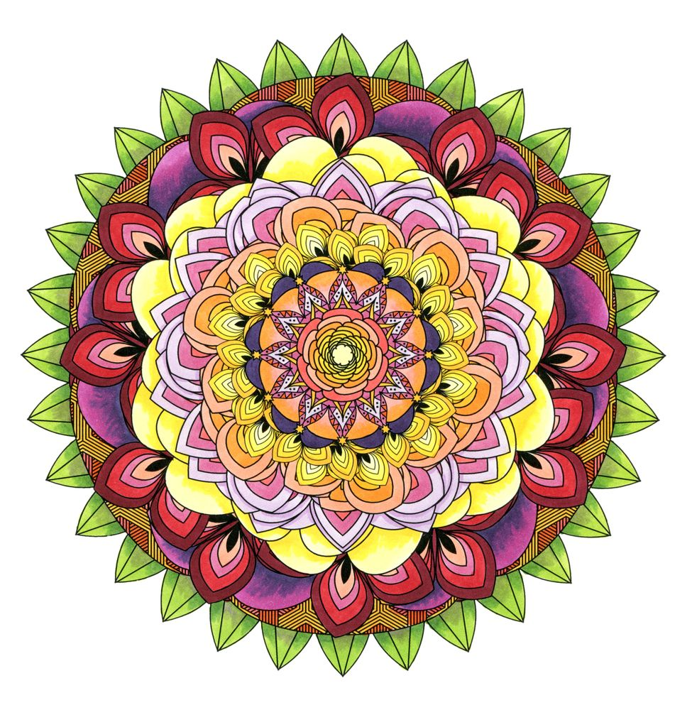 Este Mandala Coloring Book para los adultos es la relajación del creativo Way To Consciente