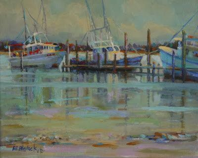 Shrimp Boats Alabama Artist Shrimp Boat Painting