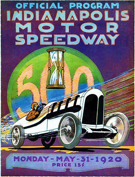 1929 GRAND PRIX FORMULA ONE AUTO RACING POSTER A KOW GRAPHIC ART DECO INDY 500