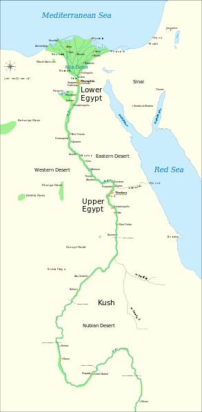 In Antiquity Ancient Egypt Was Divided Into Two Lands Upper - Map of egypt valley of the kings