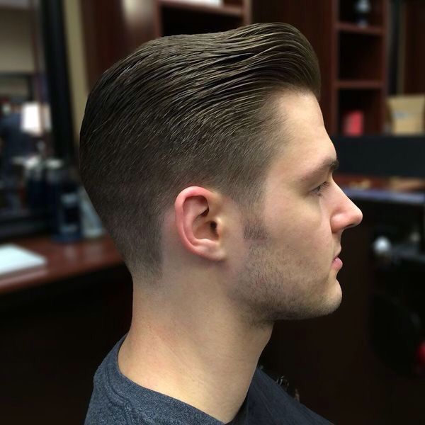 Classic Connected Haircut With A Very Blended Low Fade Men S
