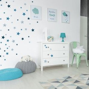 Sterne im Kinderzimmer und Babyzimmer. Als Wanddekoration
