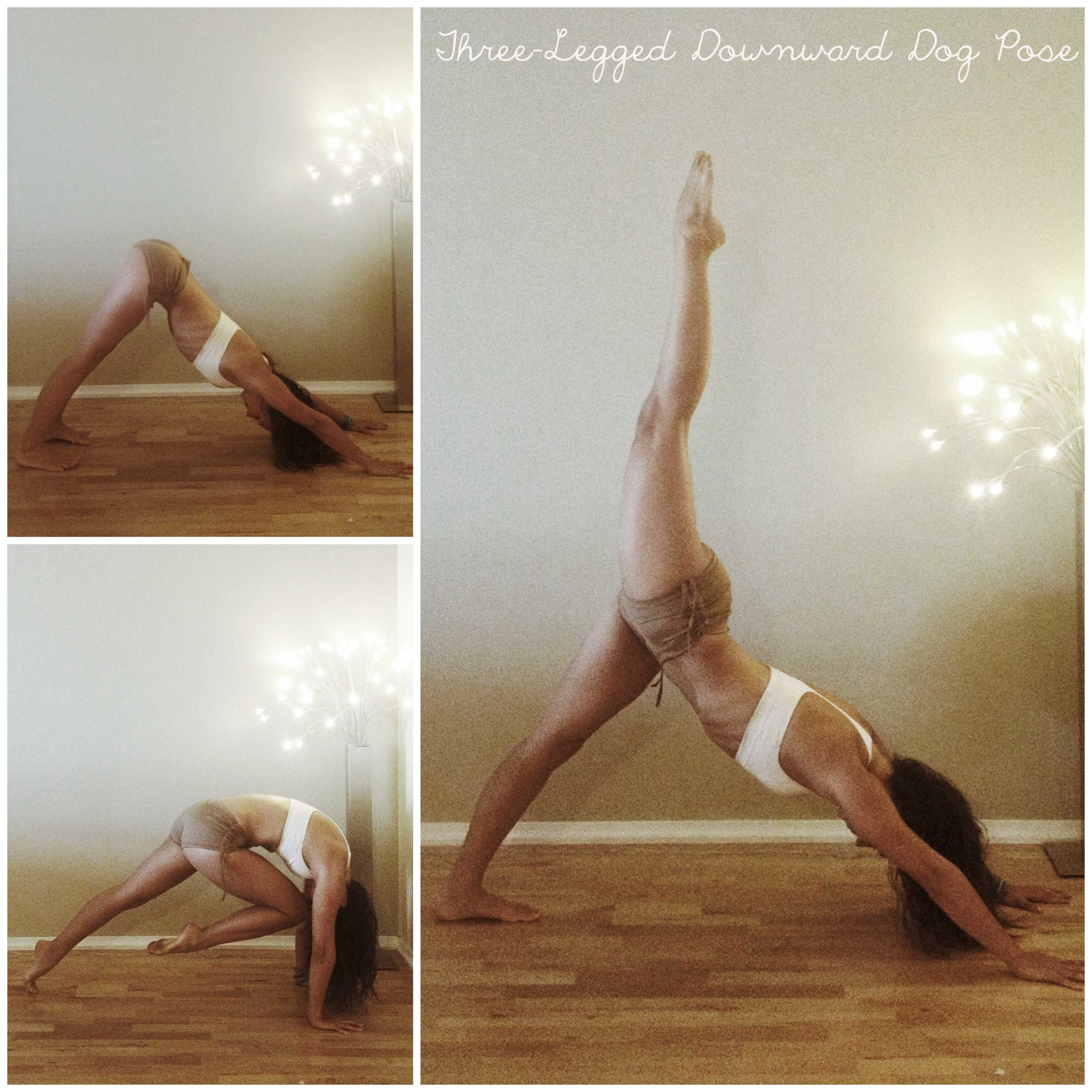 How To: Three-Legged downward facing dog | Yoga poses for ...