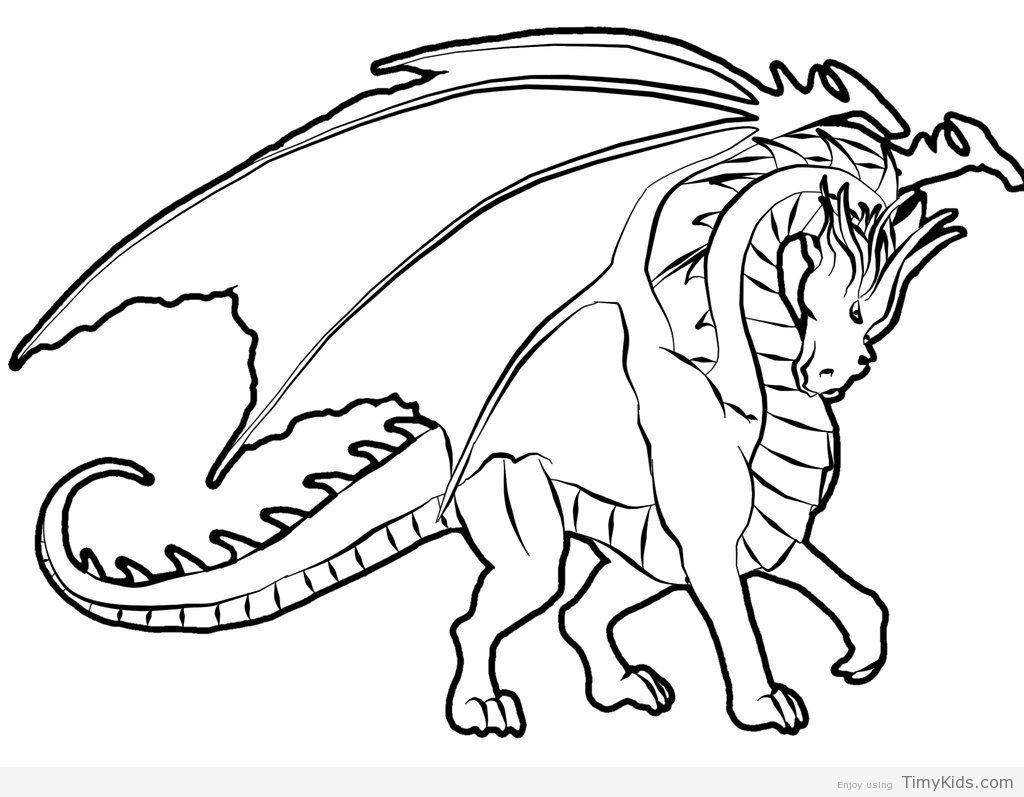 dragon coloring page free printable coloring pages - 1024×767