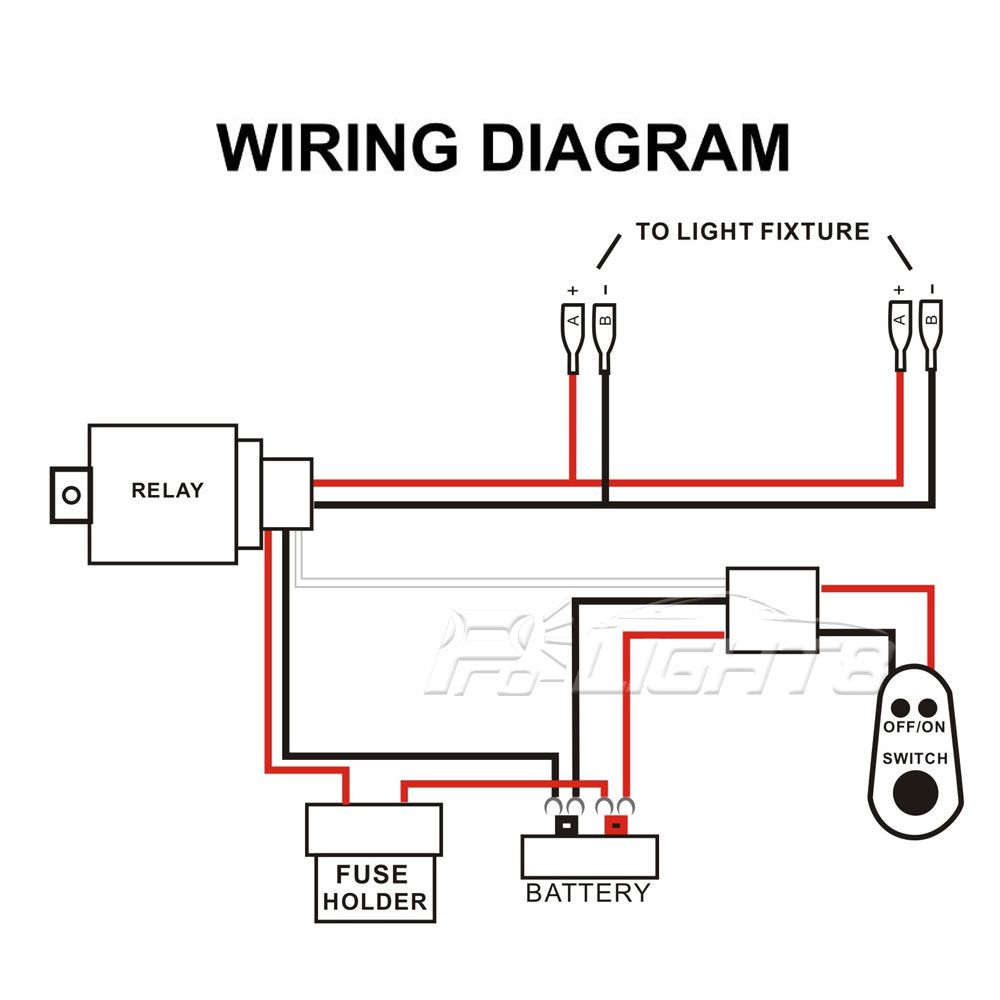 Led Light Bar Wiring Diagram With Switch Circuit And Schematics