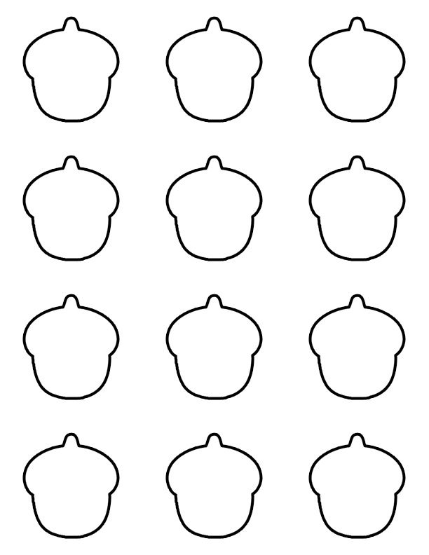 Acorn macaron template preschool pinterest minis and for Printable french macaron template