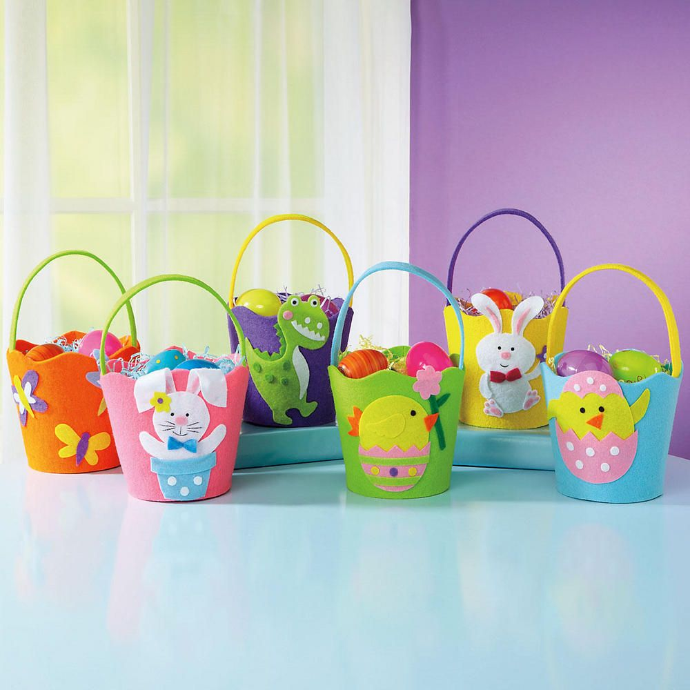 Cute crafted easter gift basket idea in multi color with adorable easter negle Image collections