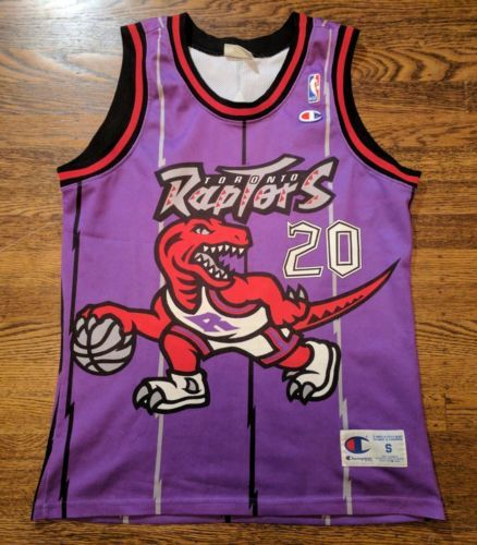 Damon Stoudamire Toronto Raptors Vintage Champion Jersey 40 S Rare Euro  please retweet 58ad30cdd