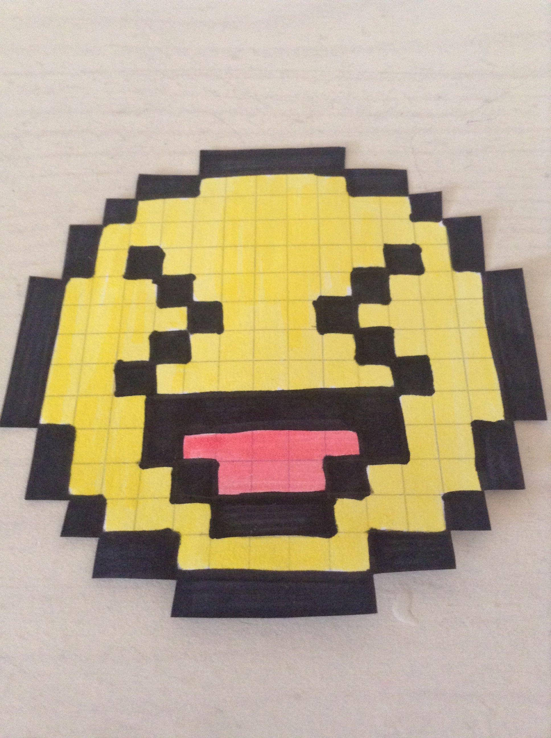 Smiley Sui Rigole Easy Pixel Smileys Chien Mignon Et Dessin