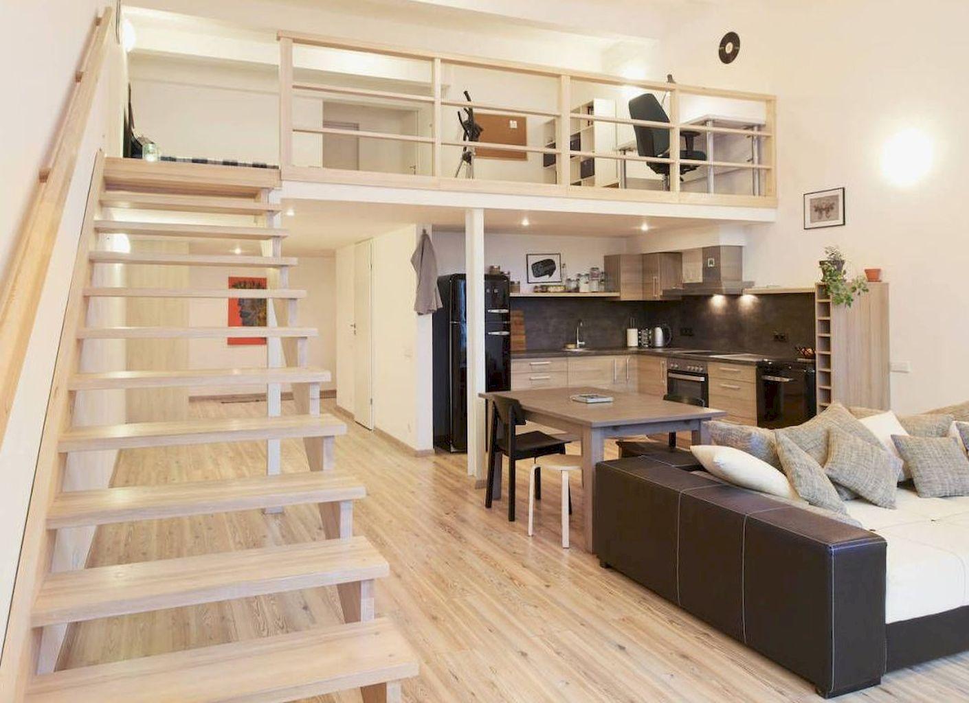 65 DIY College Apartment Decorating Ideas Small loft