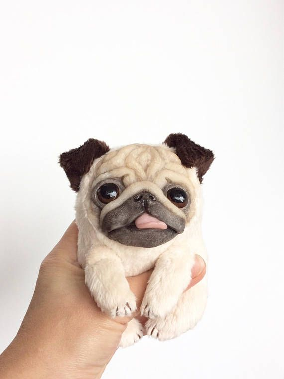 Cute Dog Puppy Pug Handmade Soft Toy Pug Dog Dogs And Puppies