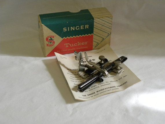 Vintage Singer Sewing Tucker 401 404 403 301 by PracticalCottage