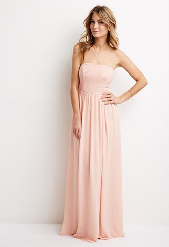 Strapless Chiffon Maxi Dress | FOREVER21 | #thelatest | forever 21 ...