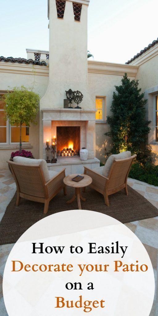 Some easy tips to decorate your patio on a budget for a gorgeous outdoor living space you can call your own. Create a beautiful and awesome backyard retreat without spending a lot of money. Great ideas for back porches and decks. #outdoorliving #patio #deck #decorate #homedecor #Sonnenschirme verzieren