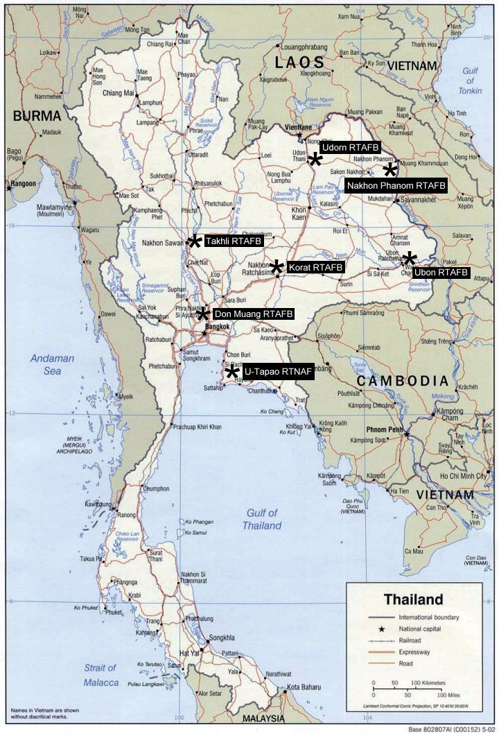 The United States Air Force Deployed Combat Aircraft To Thailand From 1961 1975 During Vietnam War Today Usaf Units Train Annu