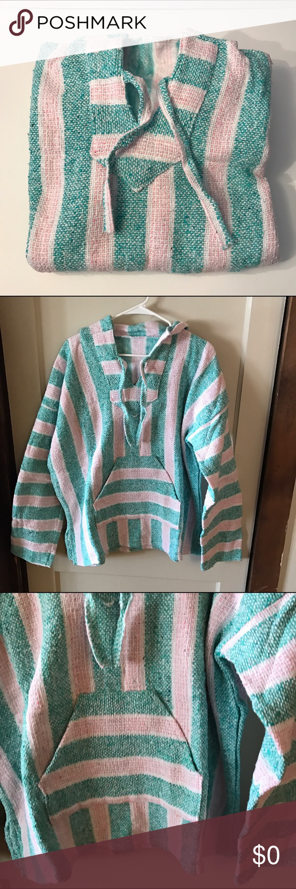 """NWOT!!! Colorful Baja Hoodie NWOT!!  Colorful Baja Hoodie with front pouch Pocket. Underarm to underarm is approximately 27"""". Length approximately 28-1/2"""". Junior/Contemporary fit. ❌No trades Three Bird Nest Tops Sweatshirts & Hoodies"""