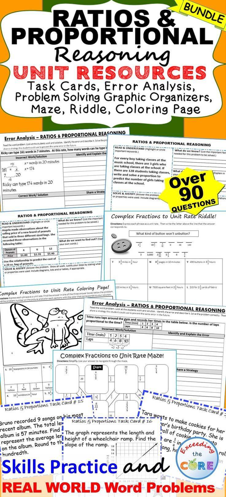 Unit Rate Word Problems Teaching Resources Teachers Pay Puzzle ...