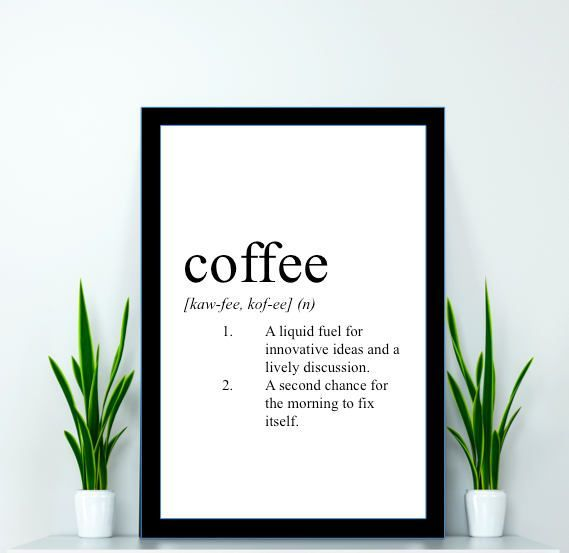 Coffee Print Coffee Definition Print Coffee Poster Coffee Coffee Print Coffee Definition Print Coffee Poster Coffee -