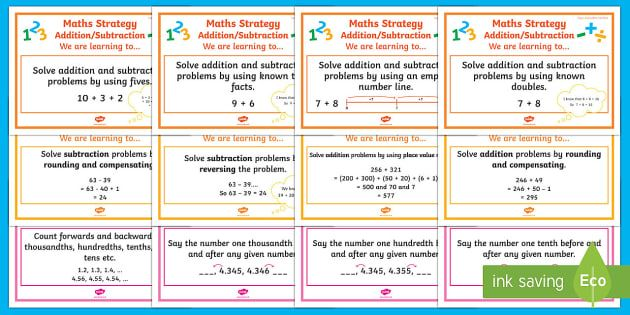 Addition And Subtraction Walt Cards Stages 5 7 Display Pack Walt Cards For Nz Mathematics Subtraction Addition And Subtraction Multiplication And Division