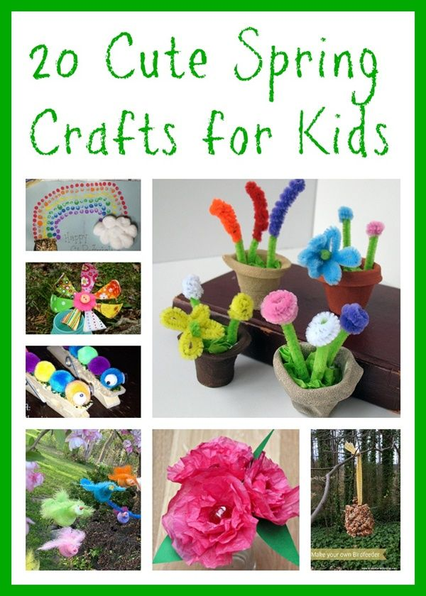 cute spring craft ideas for kids - Spring Pictures For Kids