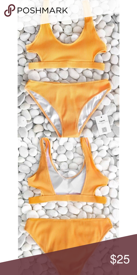 858768ce70f I just added this listing on Poshmark  Feather Yarn Solid Bikini Set.   shopmycloset  poshmark  fashion  shopping  style  forsale  Cupshe  Other