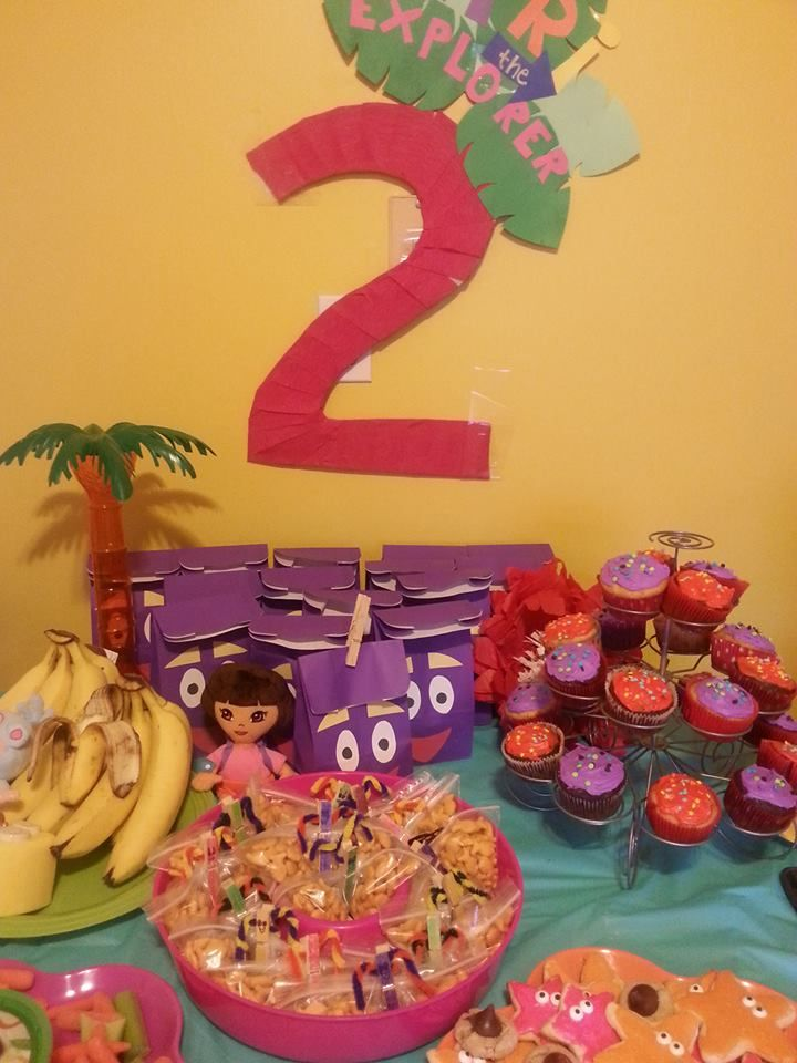 Dora Birthday Party Foods Table display Inspired by pinterest