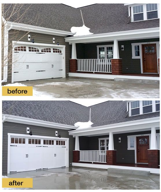 The Original Garage Door Fit The Home Style But It Wasn T Insulated When The Panels Were Damaged The Home Garage Door Styles Stair Makeover Garage Door Decor