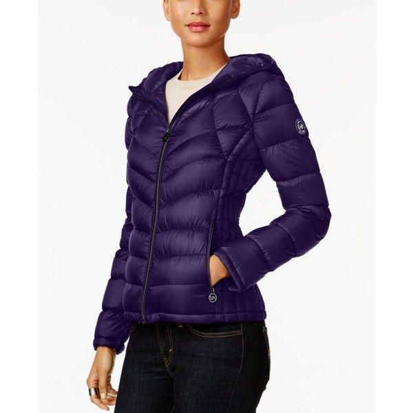 Women's Michael Kors Puffer Down Jacket Hoodie Coat for Winter MK Jacket with Packable Bag for Women Online