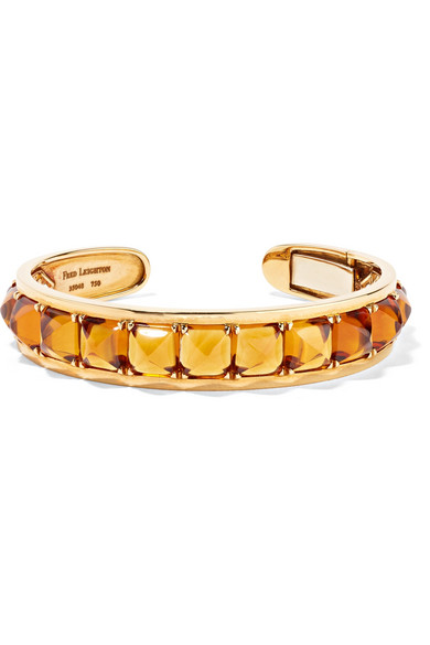 Fred Leighton Collection 18-karat Gold, Citrine And Diamond Cuff