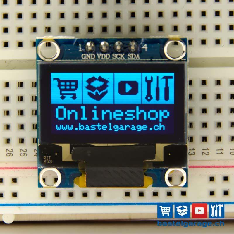 Oled Display Blau I2c 128x64 96 Arduino Projekte