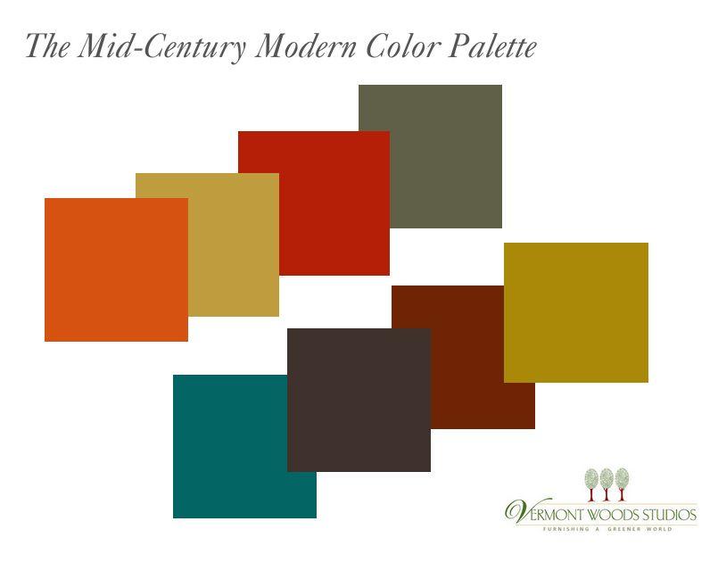 Mid Century Color Palette Mid Century Modern Colors Mid