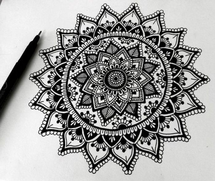 1001 id es et techniques pour faire un mandala just wanna be inked pinterest mandala. Black Bedroom Furniture Sets. Home Design Ideas