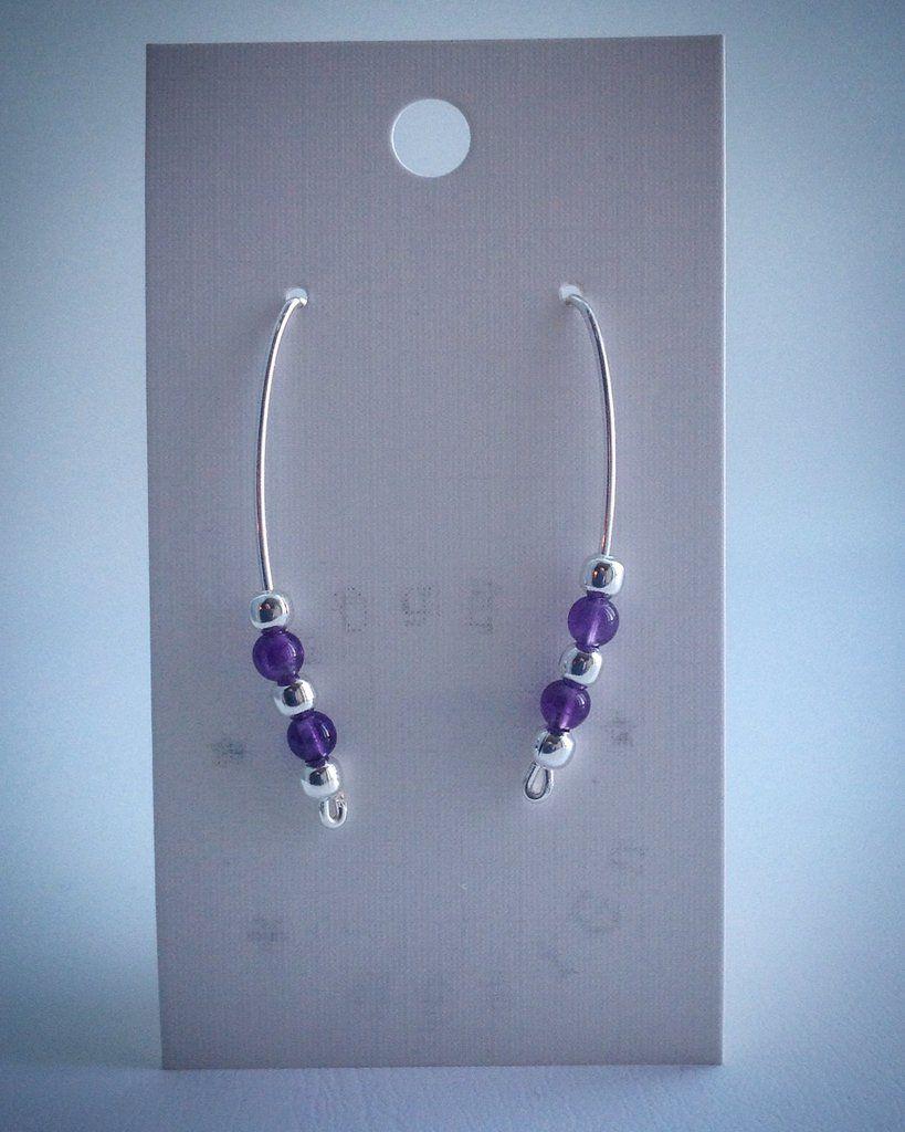 Wire balance earrings - Silver plate