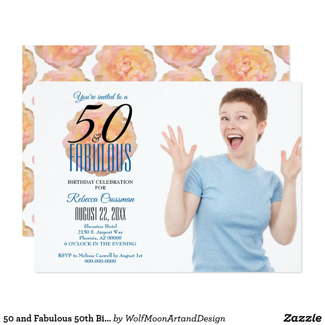 Fabulous At 50 Font: 50 And Fabulous 50th Birthday Invitation