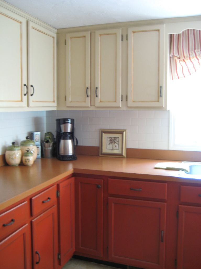 Paint your old golden oak cabinets painting living and - Different ways to paint kitchen cabinets ...