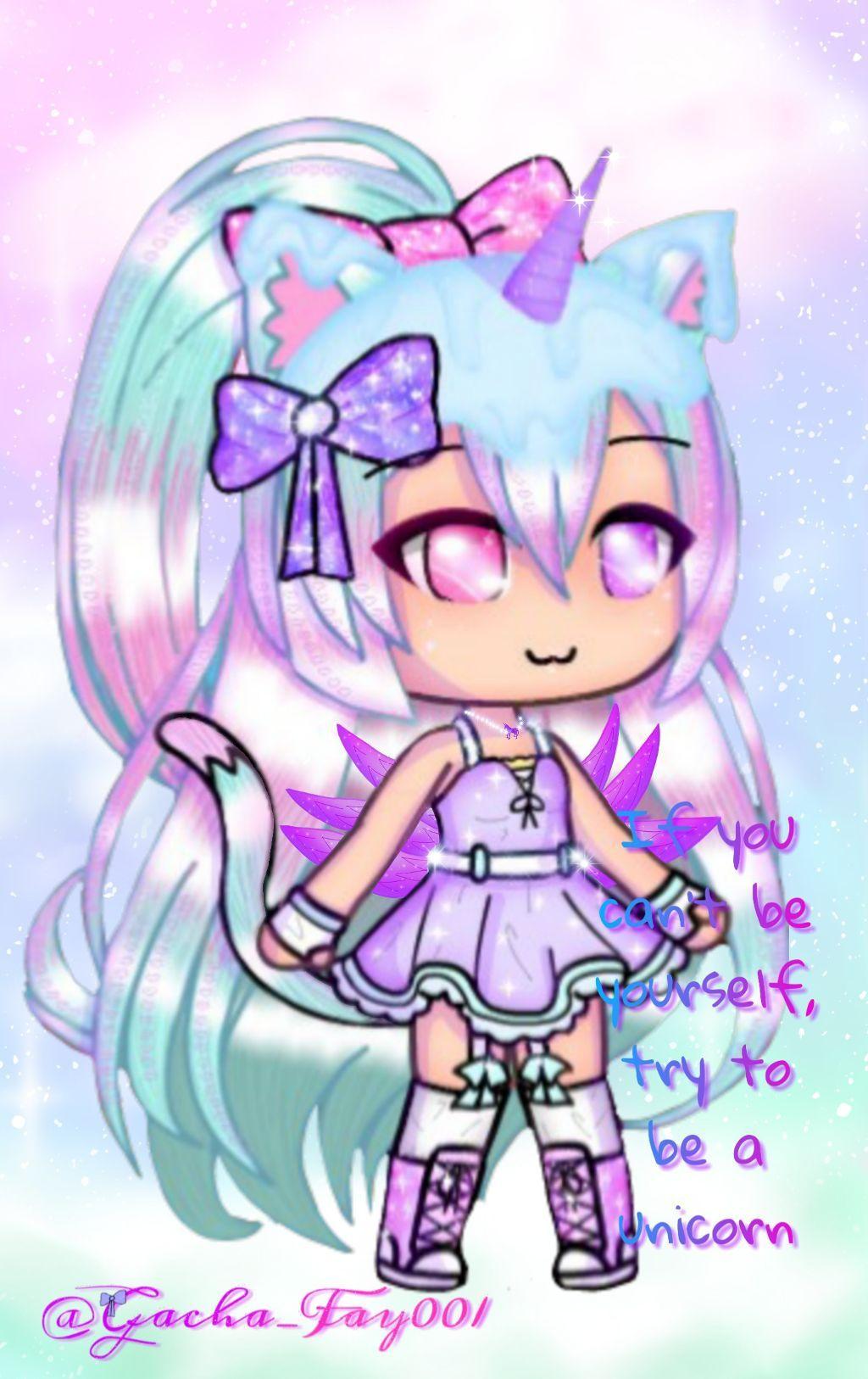 Fay The Unicorn Girl Cute Anime Chibi Unicorn Illustration Unicorn Wallpaper Pastel