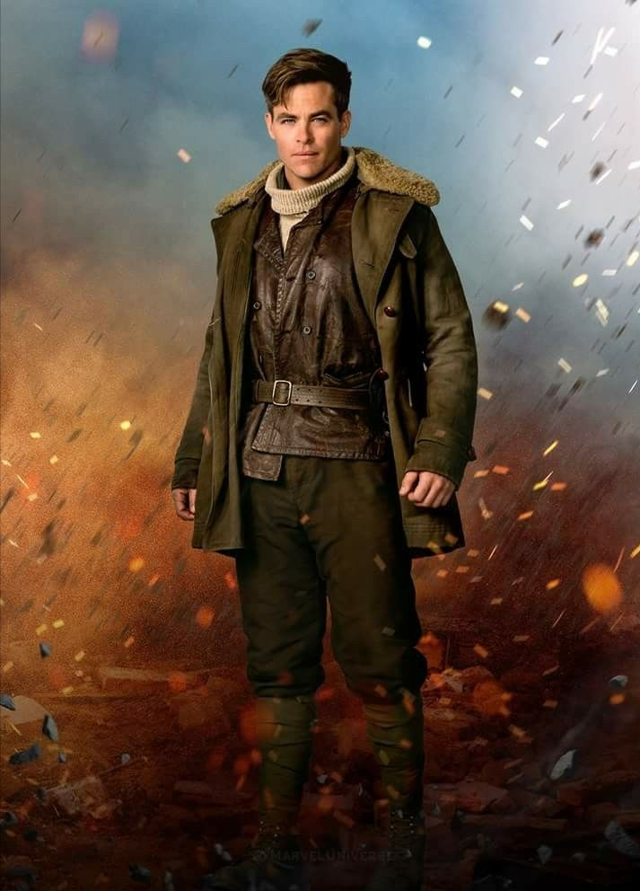 Chris Pine As Steve Trevor Wonder Woman Chris Pine Wonder Woman Movie Wonder Woman
