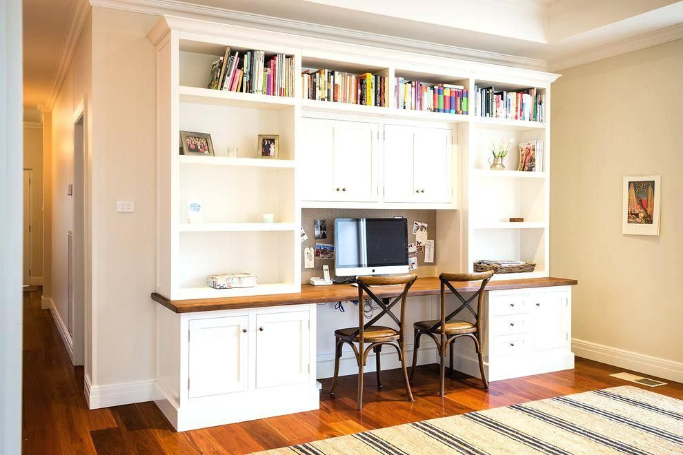 Built In Home Office Wall Units Desks And Bookshelves Bookshelf With Desk Custom Furniture