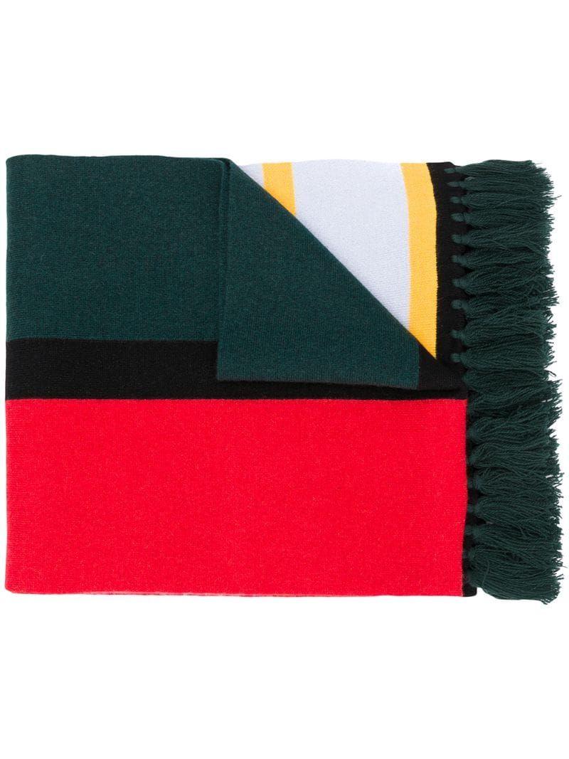 Photo of Burberry Oversized intarsia-knit Scarf – Farfetch