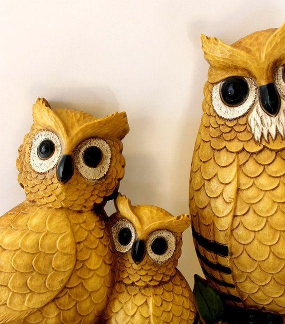 Vintage Homco Resin Owls | Owls | Pinterest | Owl, Vintage ...